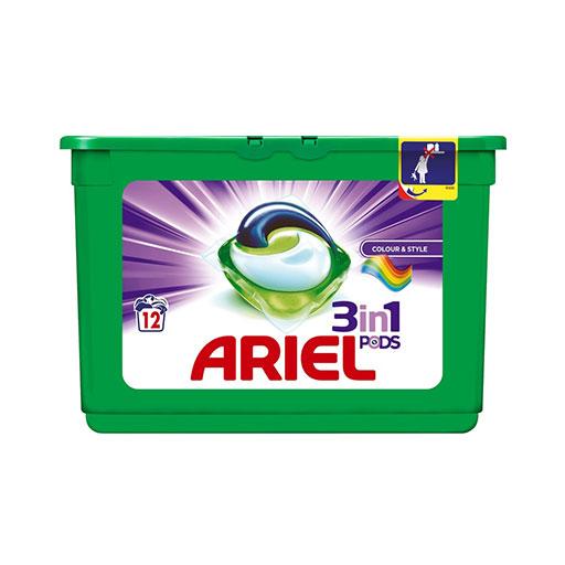 Ariel lessive 3en1 12 caps
