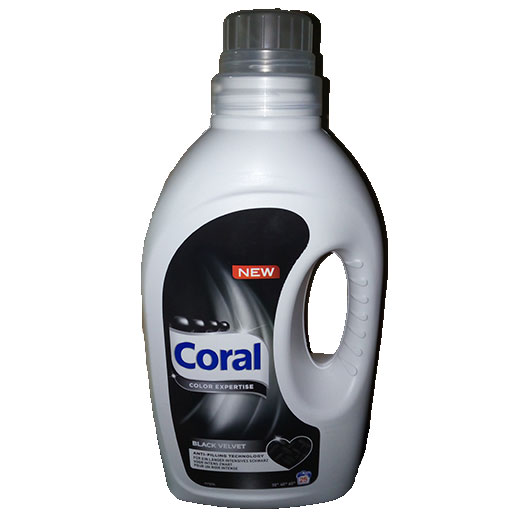 Coral lessive liquide black velvet
