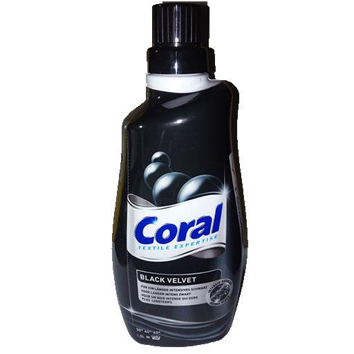 Coral lessive black velvet